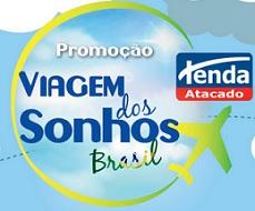 www.tendaatacado.com.br/promocoes, Promoção Tenda Viagem dos Sonhos
