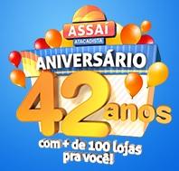 WWW.ANIVERSARIOASSAI.COM.BR, PROMOÇÃO ANIVERSÁRIO ASSAÍ 42 ANOS